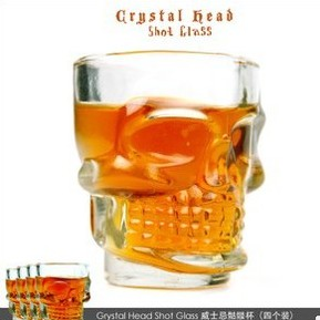 Creative Crystal Skull Head Shot Glass Vodka Whiskey Wine shot Glass Cup
