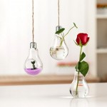 hanging glass bulbs vase