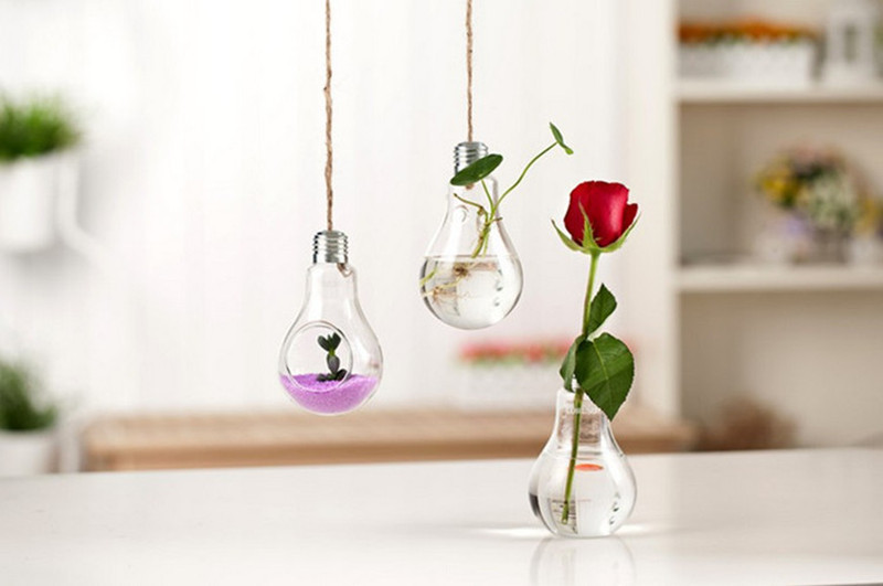China Glassware Manufacturer - Glass crafts factory : light bulb flower vase - startupinsights.org