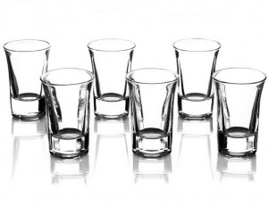 Lead free 2 oz white wine glass Vodka shot glass