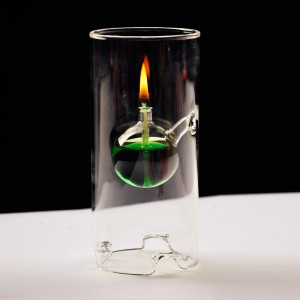 Creative glass oil lamp